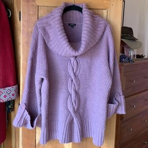 Talbots Cowl Neck Sweater Lavender Large